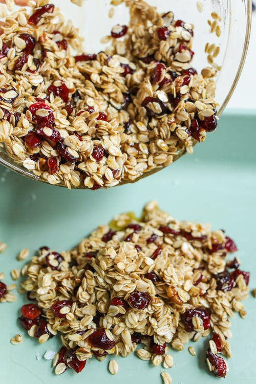 Photo Of Granola On A Clear Bowl