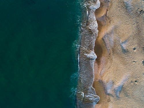 Bird's Eye View Of Seashore During Daytime