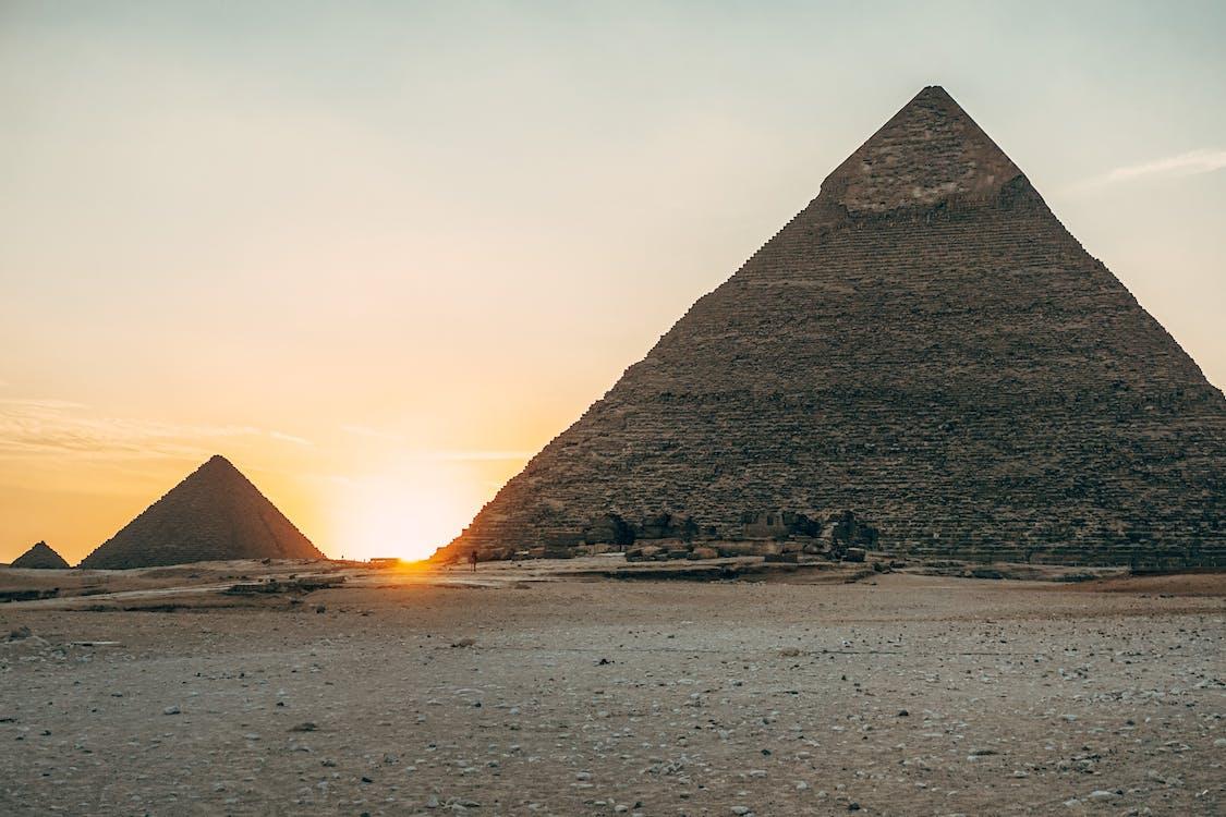 Egyptian Pyramids during Sunset