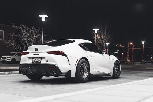 Photo of Parked White Toyota Supra