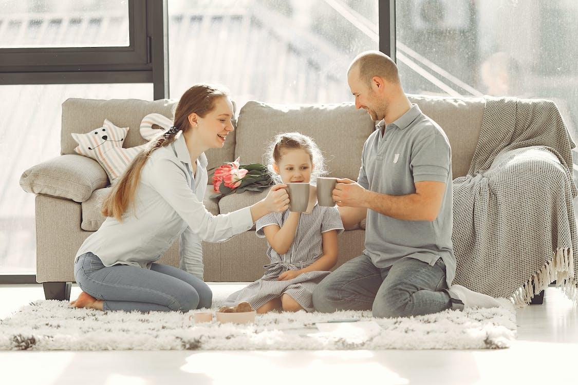 A Family Having Happy Moments