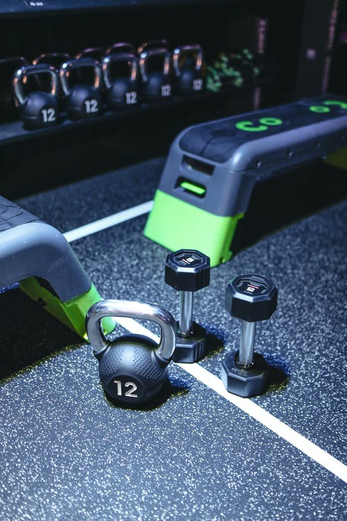 Green And Black Exercise Equipments