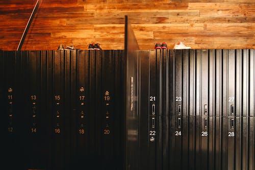 Locker room in sports club