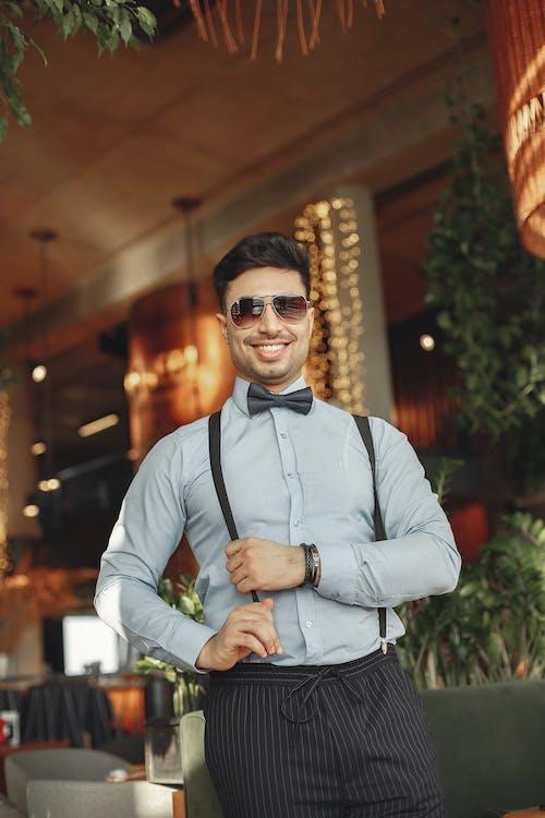 Man In Dress Shirt Wearing Sunglasses