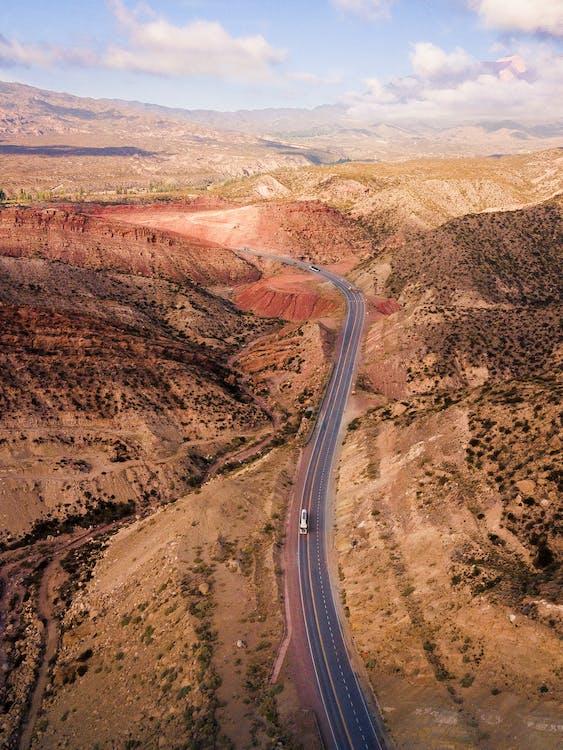 Road passing through mountain terrain