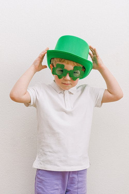 Boy in Saint Patricks Day Costume