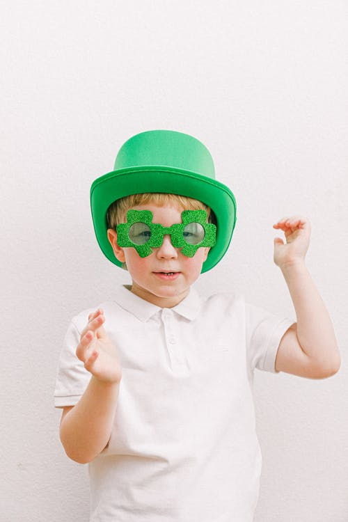 Child in Saint Patricks Day Costume