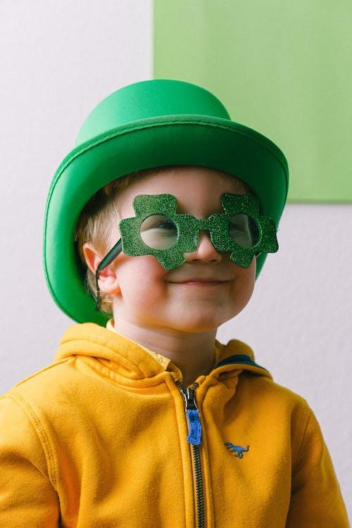 Boy in Saint Patricks Day Costume