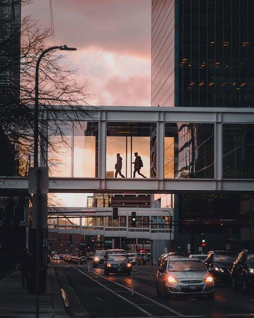 Fotobanka sbezplatnými fotkami na tému autá, budova, centrum mesta