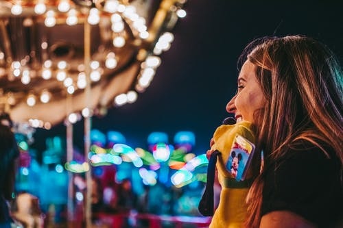 Free stock photo of bright lights, candy, city park, colors