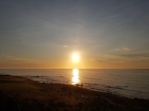 คลังภาพถ่ายฟรี ของ ชายหาด, ท้องฟ้าสีคราม, ท้องฟ้าสีฟ้า, พระอาทิตย์ขึ้น