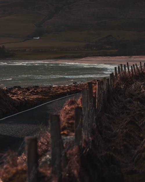 Gratis lagerfoto af bådhus, dunaverty rock, fægte, hav