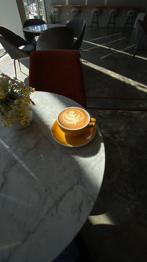 Ceramic Mug On Ceramic Saucer