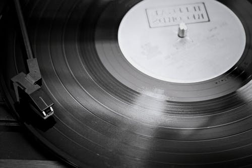 Free stock photo of black vinyl, old music, record, turntable