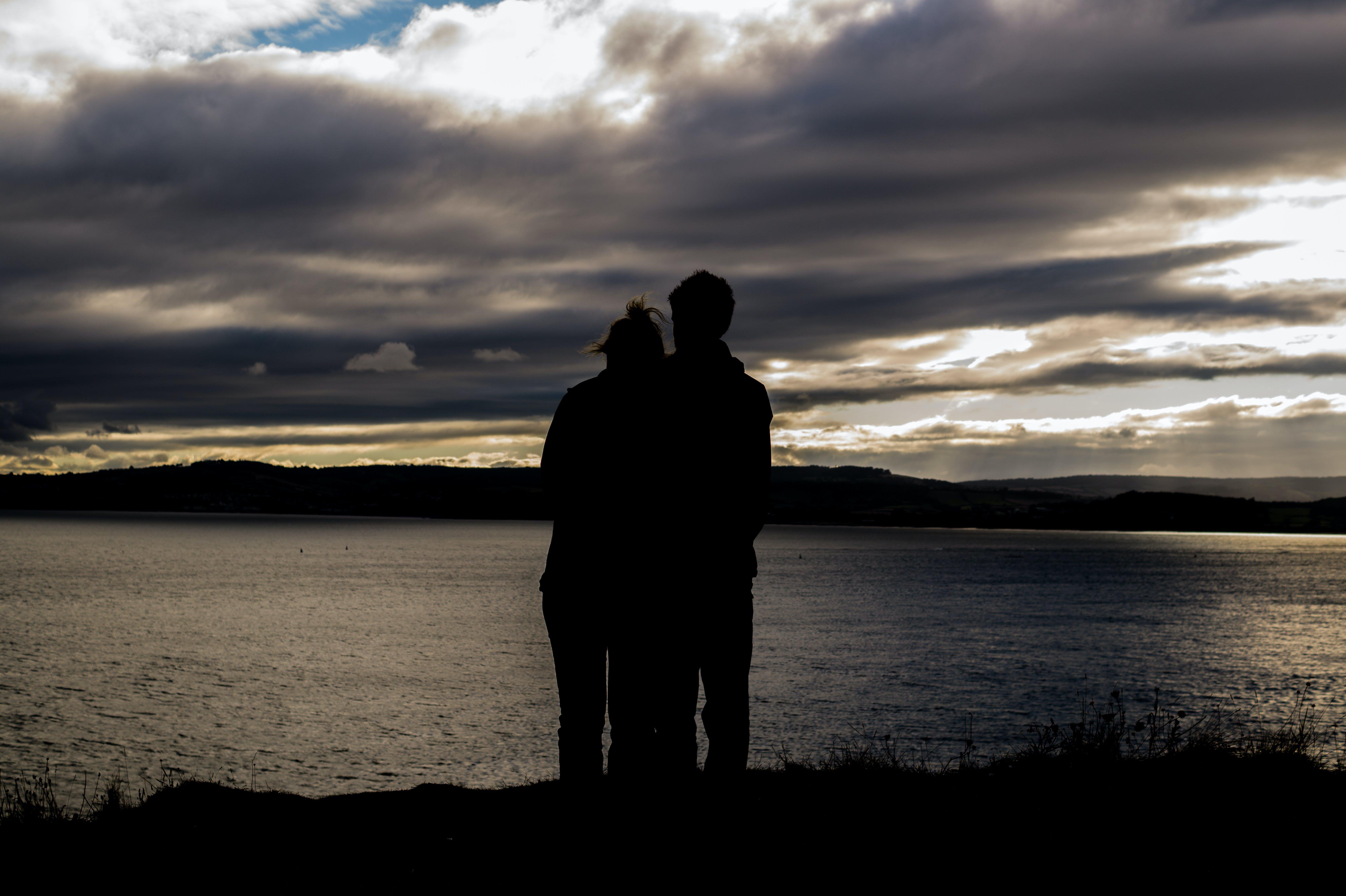couple, feeling, hug
