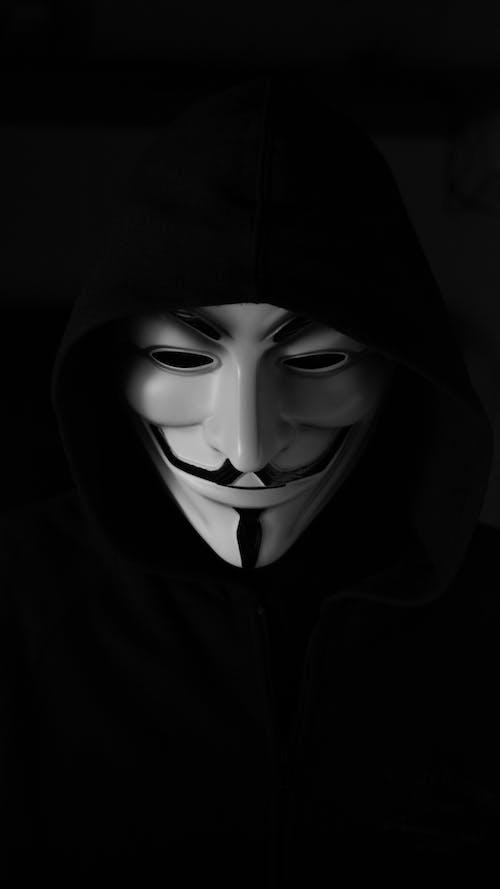 ガイフォークスマスク, ハッカーマスク, 不気味の無料の写真素材