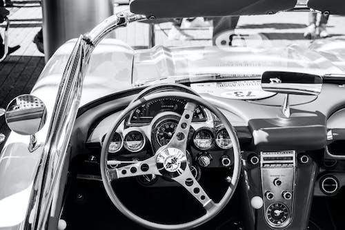 Free stock photo of automobile, black-and-white, black&white, cabrio