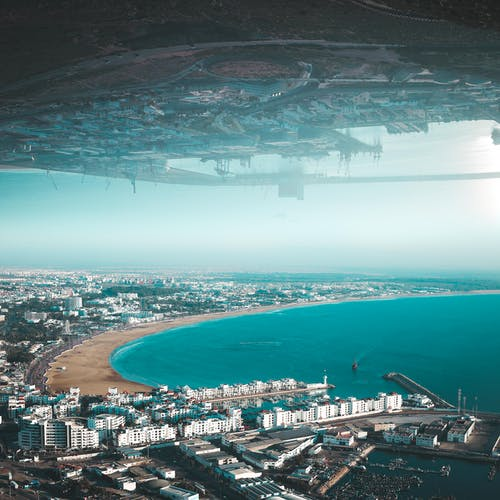 Free stock photo of adobe photoshop, aerial photography, agadir