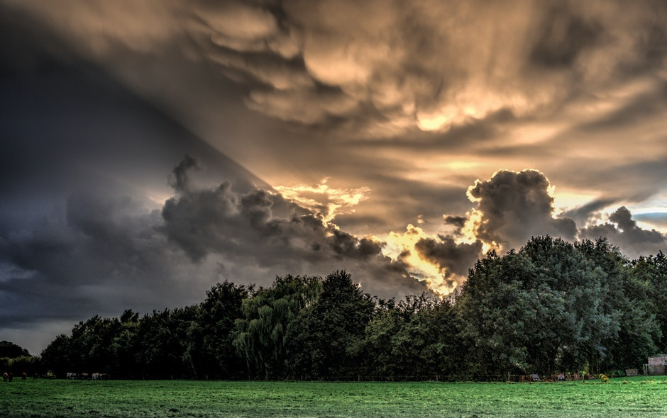 clouds, hdr, nature