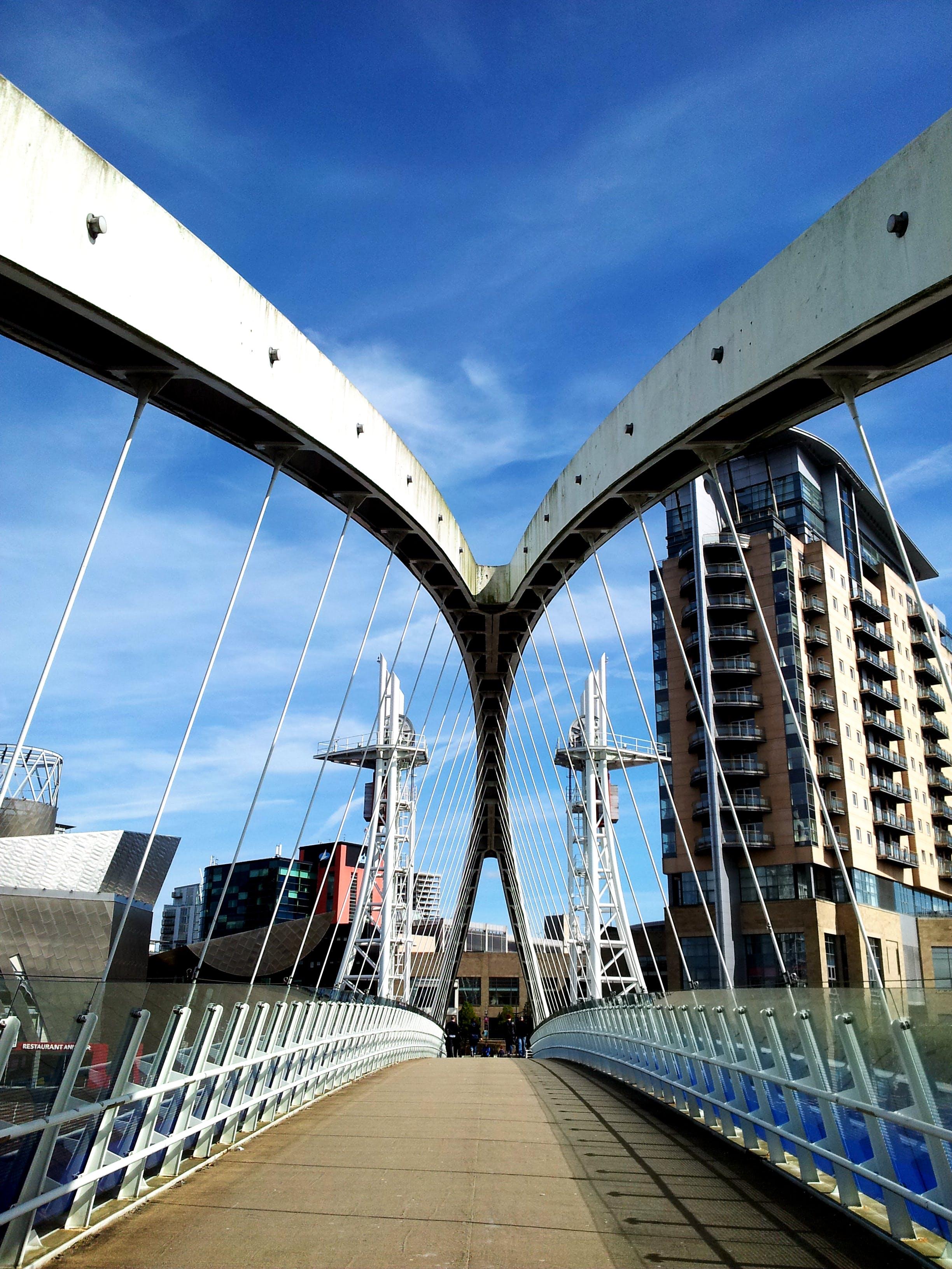 White Bridge Under Blue Sky