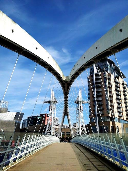 Ingyenes stockfotó acél, építészet, épületek, híd témában