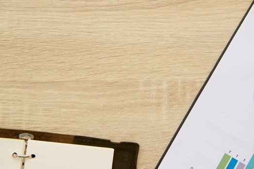 Free stock photo of wood, desk, notebook, table