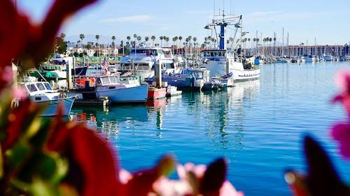 Free stock photo of aqua, blue lake, boat