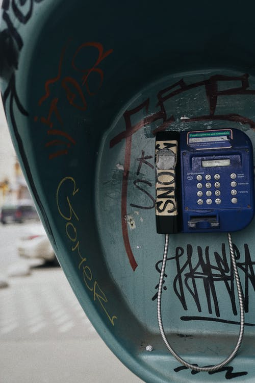 Blue Telephone Booth