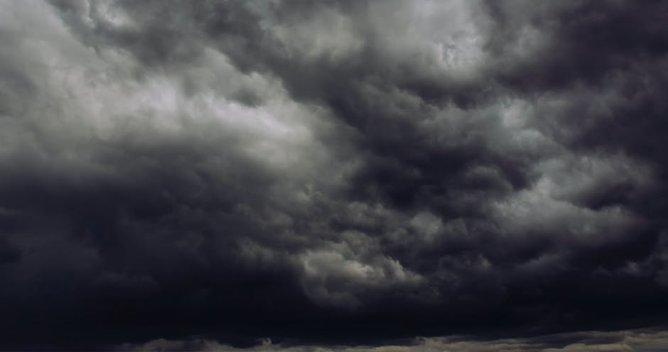 dark clouds, storm, thunderstorm