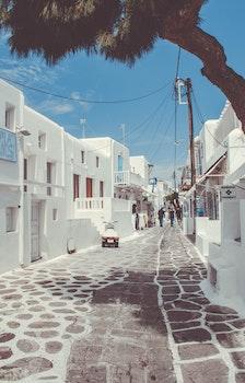 Free stock photo of landscape, white, island, greece