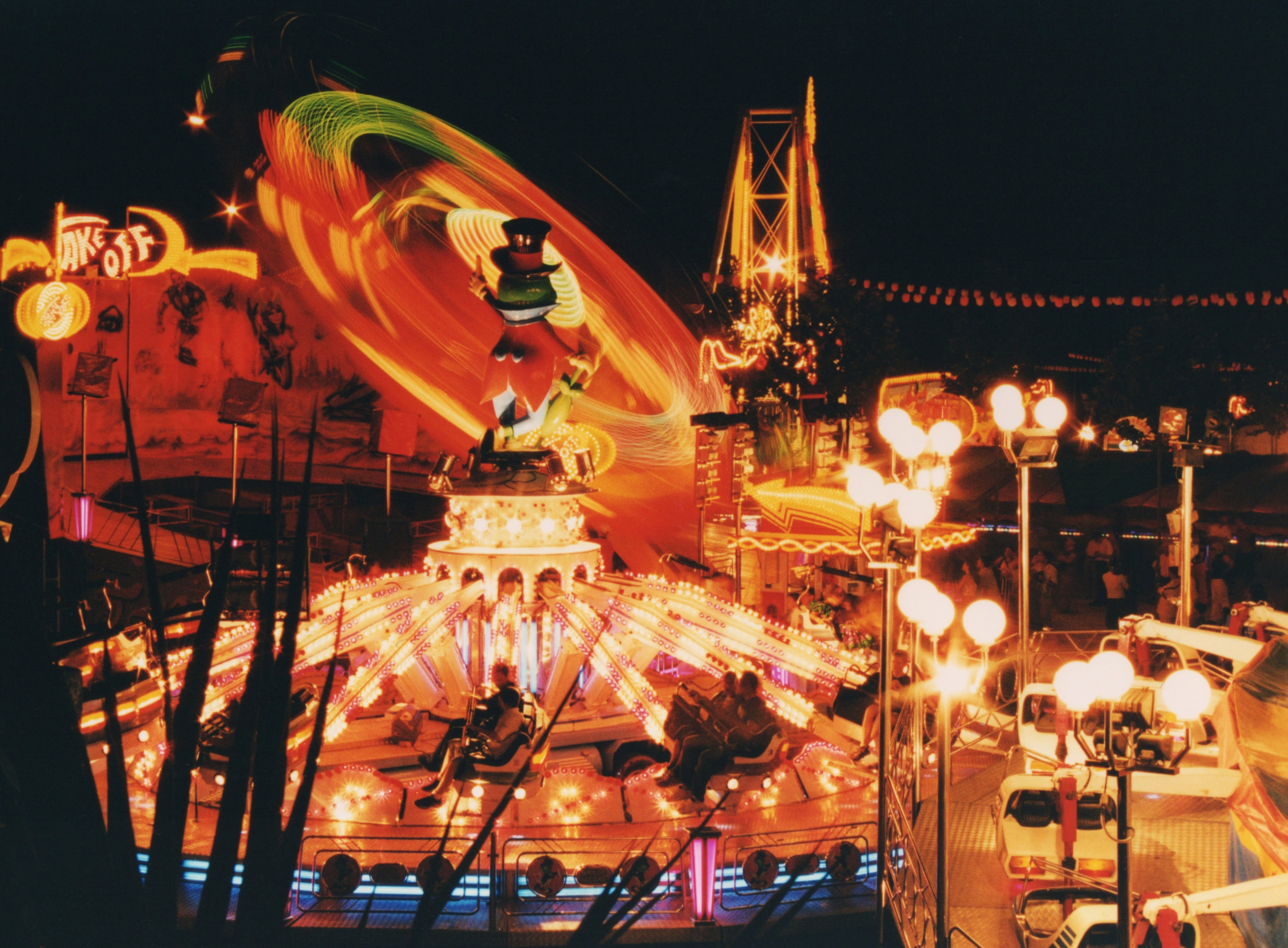 Lit Carnival Lights