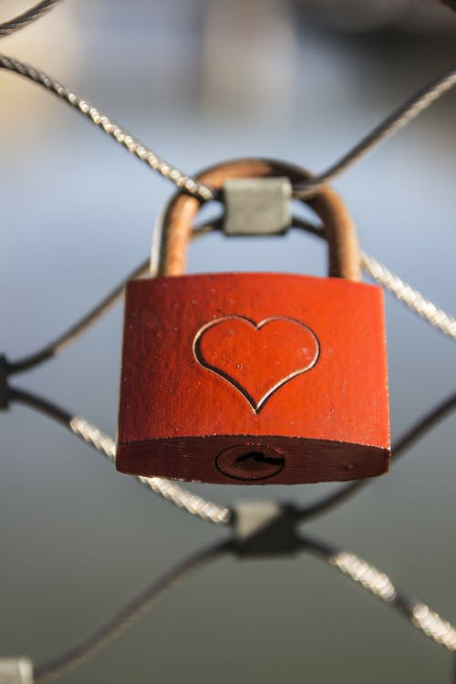 Red Padlock on Wire