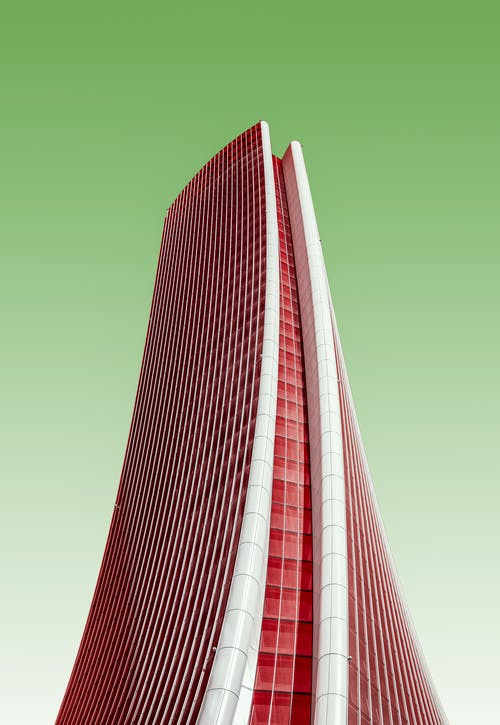 White and Red High Rise Building