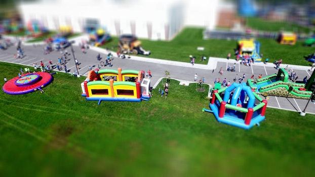 Free stock photo of aerial, playground