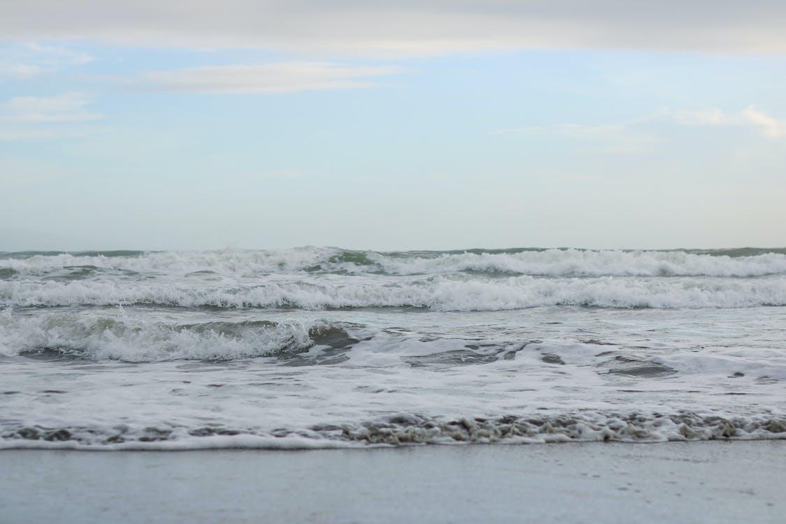 Základová fotografie zdarma na téma lámání vln, mávání, modrá