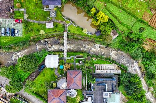 Luftaufnahme Des Brown Brick House