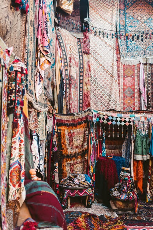 Assorted Textile On Display