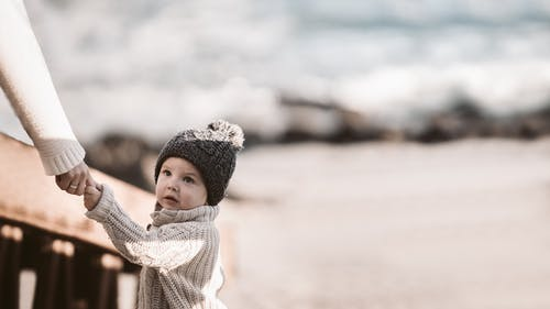 Photo of Baby Wearing Knitted Beanie