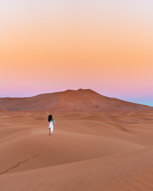 Photo Of Person Walking On Dessert