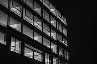 black-and-white, night, dark