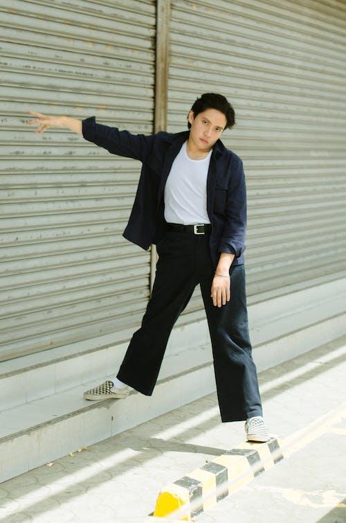 Photo Of Man Wearing Blue Blazers