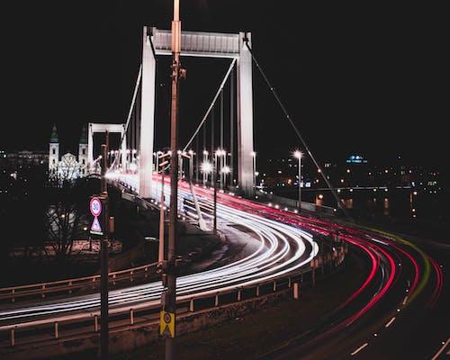 シティ, ブダペスト, ブリッジ, ブレーキライトの無料の写真素材