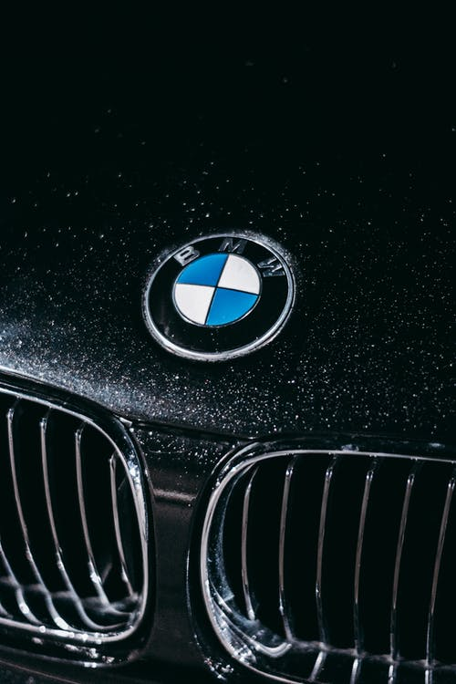 BMW Car Logo on Black Car