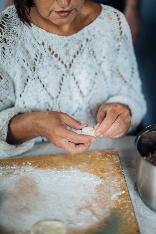 러시아 음식, 만두, 밀가루, 반죽의 무료 스톡 사진