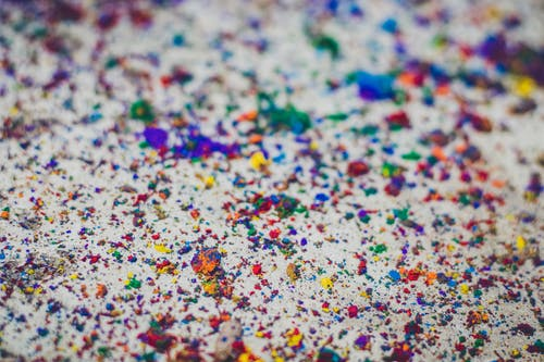 Colored Powder On Ground