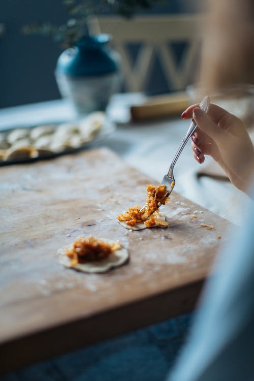 Gratis stockfoto met bestek, dumpling, eten