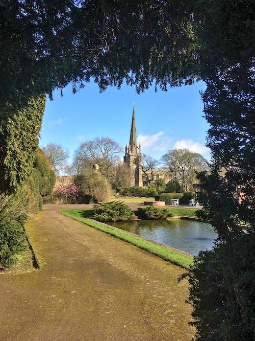 Free stock photo of church, garden, gardens