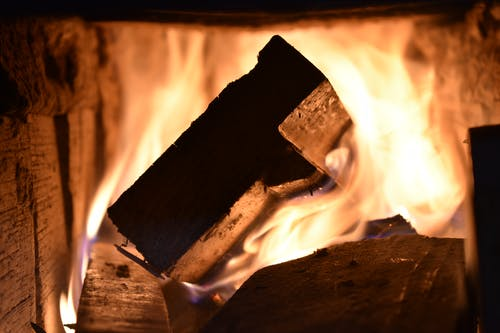 Close Up Photo Of Firewood Burning
