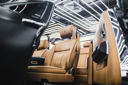 Brown Leather  Rolls Royce Car Seats