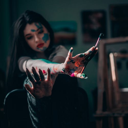 塗料, 女人, 手, 混亂的 的 免費圖庫相片